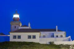灯塔 海角Roca (罗卡角) -欧亚大陆,葡萄牙的最西部的点 免版税库存照片