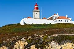灯塔- Cabo da Roca,葡萄牙 图库摄影
