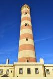 灯塔Farol da巴拉岛,葡萄牙 库存图片