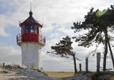灯塔Gellen在因塞尔希登塞 免版税库存照片