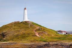 灯塔Gunnuhver,冰岛 免版税库存图片