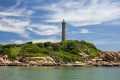 灯塔Ke Ga,从rhe海, Binh Thuan,越南的看法 免版税库存照片
