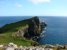 灯塔neist苏格兰 库存图片