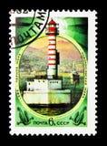 灯塔Novorosiisk (1897), serie,大约1982年 免版税图库摄影
