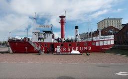 灯塔Relandersgrund现在是餐馆 免版税库存图片