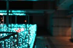 绿灯新年在晚上 免版税库存图片