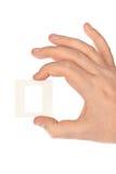 幻灯片的照片框架在手中 免版税库存图片