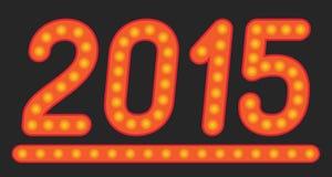 2015年灯的题字 图库摄影