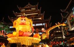 灯笼上海显示 免版税库存照片