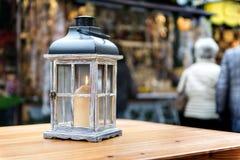 灯笼圣诞节市场 免版税库存照片