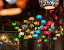 灯笼在伊斯坦布尔商店,土耳其 免版税库存照片