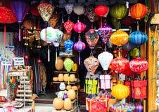灯笼在会安市,越南 免版税库存图片