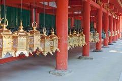 灯笼在日本 库存图片