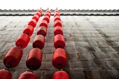 灯笼红色墙壁 库存照片