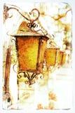 灯笼老照片 免版税库存图片
