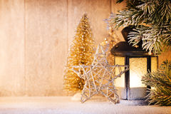 灯笼 圣诞灯、圣诞节装饰和场面 库存图片