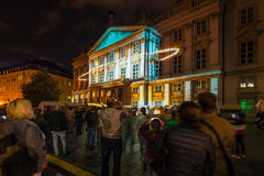 灯节在布拉索夫,斯洛伐克2016年 免版税库存图片