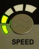绿灯速度按钮 免版税库存照片
