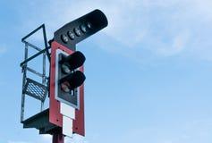 灯铁路和火车站 免版税库存照片