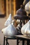 灯,工艺,在街道的纪念品在开罗,埃及购物 库存图片
