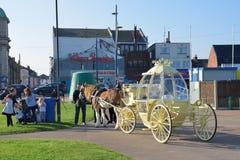 灰姑娘由大雅默斯沿海岸区的支架乘驾 库存图片