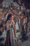 灰姑娘的图象的小女孩 免版税库存图片