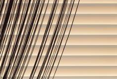 灰棕色窗帘和帷幕绳索 库存图片