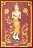 灰泥传统泰国样式艺术  免版税库存图片