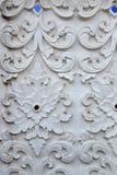 灰泥白色雕塑装饰样式墙壁设计正方形格式 免版税库存图片