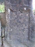灰浆板在老公墓在锡吉什瓦拉城堡 库存照片