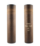灰浆炸弹被隔绝的管容器 库存图片