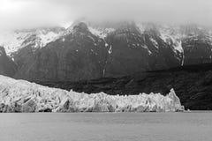 灰色冰川和安第斯山脉,巴塔哥尼亚,智利 免版税图库摄影