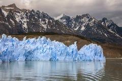 灰色冰川-巴塔哥尼亚-智利 库存图片