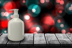 灰色分配器瓶3d的综合图象 皇族释放例证