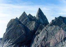 灰色北极岩石 库存照片