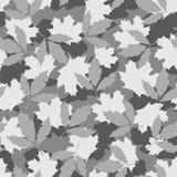 灰色叶子伪装无缝的样式 库存例证