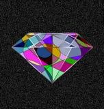 灰色和抽象水晶 库存例证