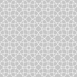 灰色和白色几何印刷品 无缝的模式 免版税图库摄影