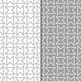 灰色和白色几何套无缝的样式 图库摄影