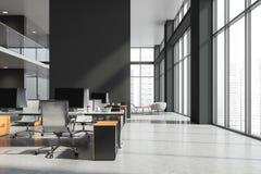 灰色和白色办公室内部 向量例证