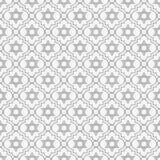 灰色和白色大卫王之星重复样式背景 免版税库存照片