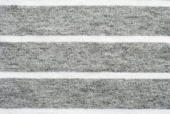 灰色和白色镶边棉花聚酯纹理 库存照片