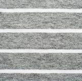 灰色和白色镶边棉花聚酯纹理 免版税图库摄影