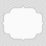 灰色和白色雪佛之字形框架背景 免版税图库摄影