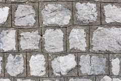 灰色和石墙,特写镜头 免版税库存照片