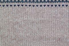 灰色和米黄现实编织的样式 库存照片