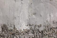 灰色和黑色绘了与铁锈条纹的金属背景创造性、纹理和背景的 免版税图库摄影