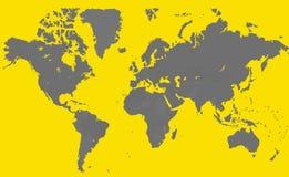 灰色和黄色地图 免版税库存图片