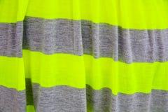 灰色和绿色镶边布料 库存图片