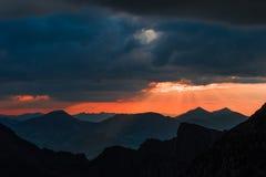 灰色和Torreys峰顶在日落 库存照片